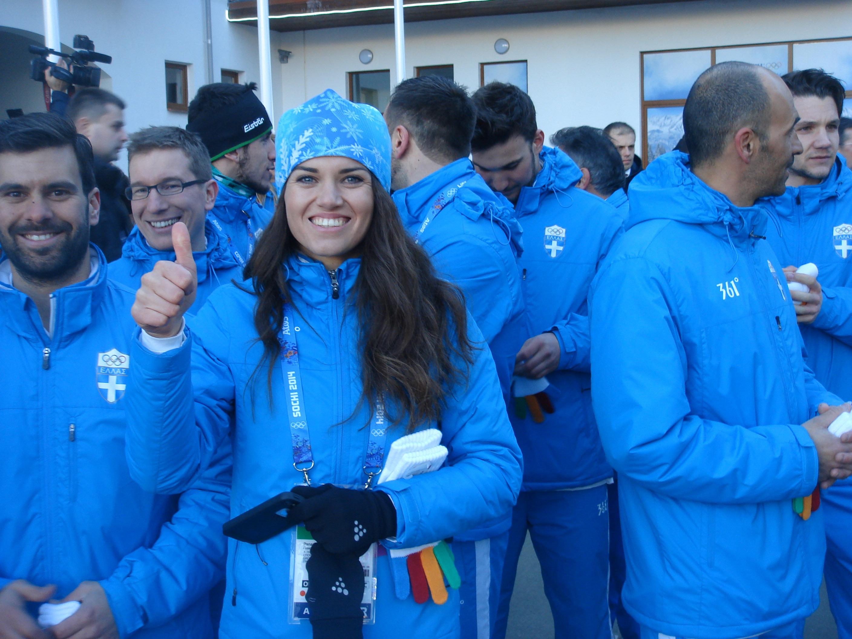 Χθες η τελετή υποδοχής της ελληνικής ολυμπιακής αποστολής στο Ολυμπιακό Χωριό